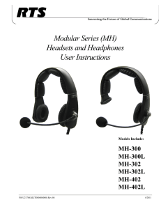 MH Series User Manual