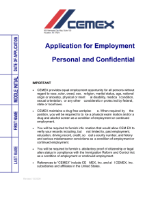 Application for Employment Personal and Confidential