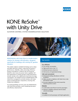 KONE ReSolve™ with Unity Drive