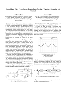 Single-Phase Unity Power-Factor Double Buck Rectifier: Topology