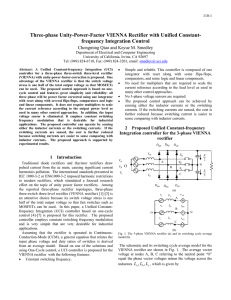 Three-phase Unity-Power-Factor VIENNA Rectifier with Unified