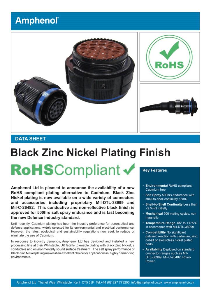 Black Zinc Nickel Plating Finish