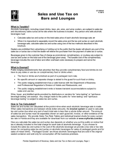 Sales and Use Tax on Bars and Lounges