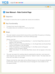 User Manual – Rate Control Page