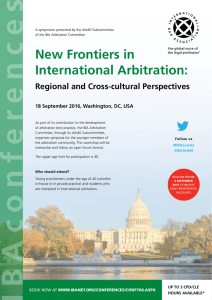 See the program here - The Arbitration Institute of the Stockholm
