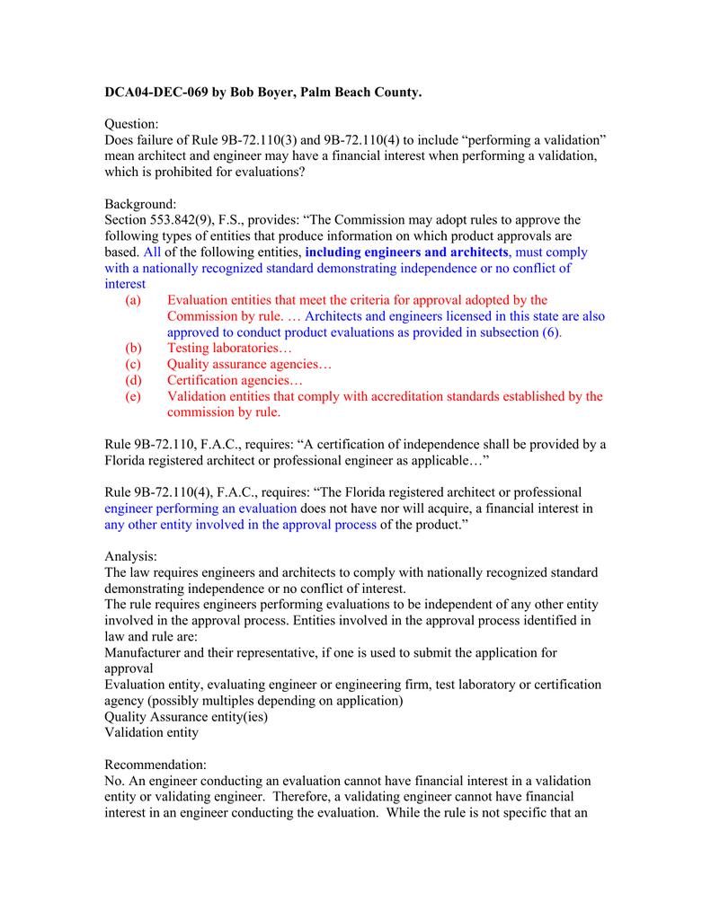 Response - Florida Building Code