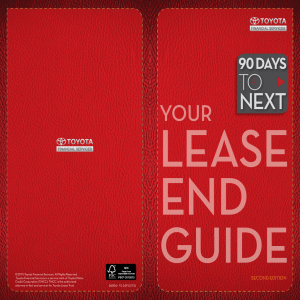 Lease-End Guide - Toyota Financial Services