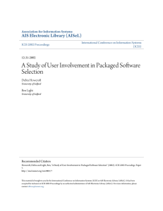 A Study of User Involvement in Packaged Software