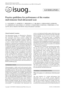 Practice guidelines for performance of the routine mid
