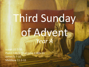 Year A - Revised Common Lectionary