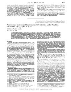 Preparation and spectroscopic characterization of trifluoromethyl