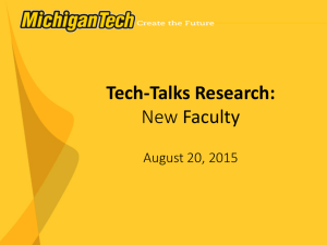Tech-Talks Research: New Faculty