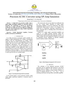 Precision AC/DC Converter using OP-Amp Saturation