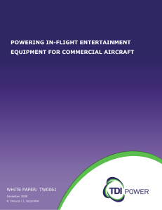 Powering In-Flight entertainment equipment