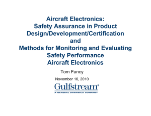 Aircraft Electronics: Safety Assurance in Product Design