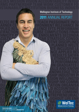 2011 Annual Report  - Wellington Institute of Technology