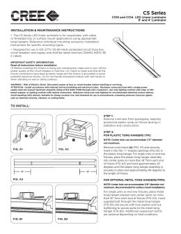 CS Series - Cree Canada  sc 1 st  studylib.net & Stridel Canopy Instructions - Architectural Star Lighting azcodes.com