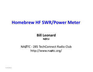 Homebrew HF SWR/Power Meter