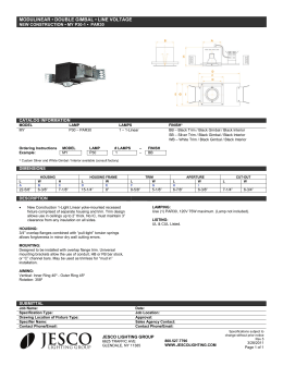 save these instructions important safety installation jesco lighting modulinear • double gimbal • line voltage
