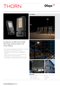 Olsys NEW - the Thorn Lighting website