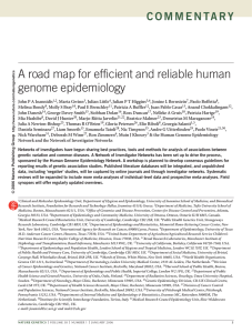 A road map for efficient and reliable human genome epidemiology