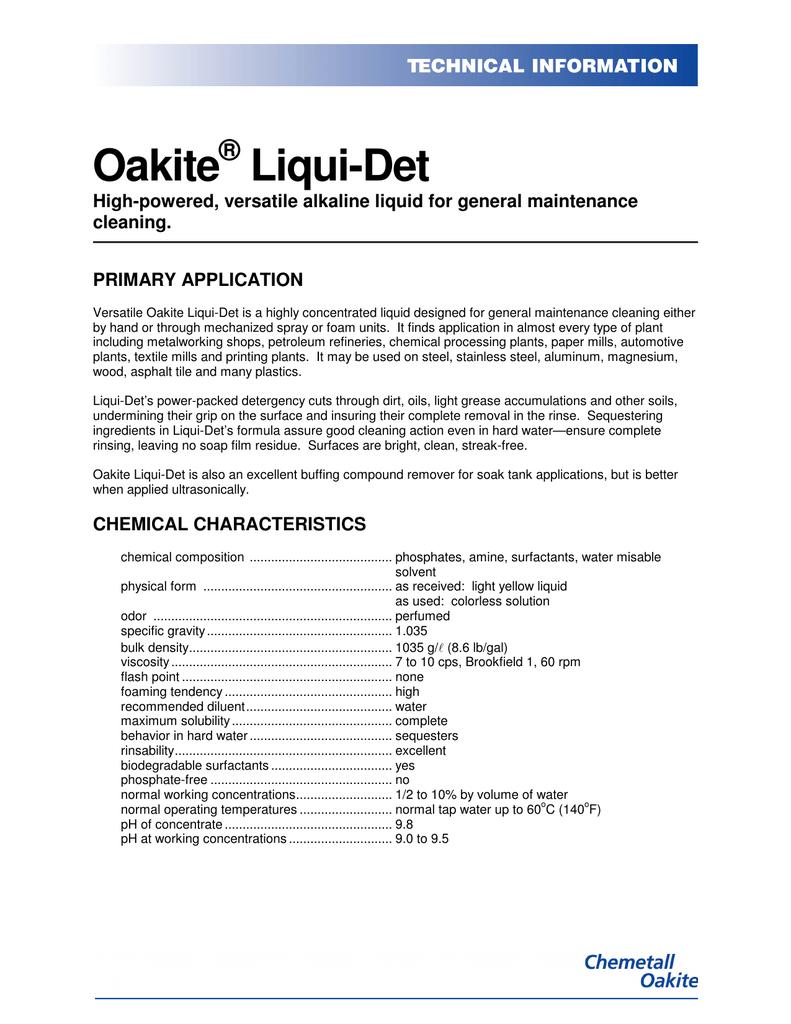 Oakite Liqui-Det