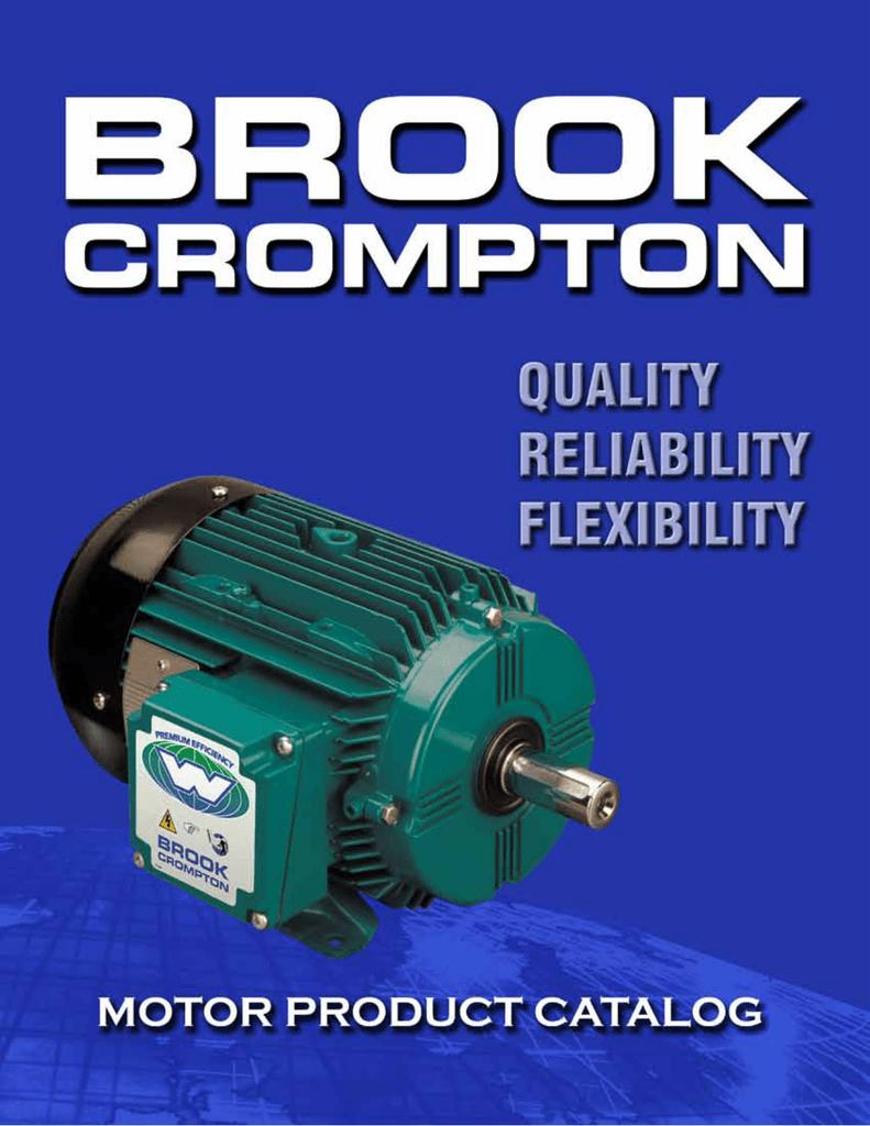 2013 Electric Motor Catalog Brook Crompton Wiring Diagrams