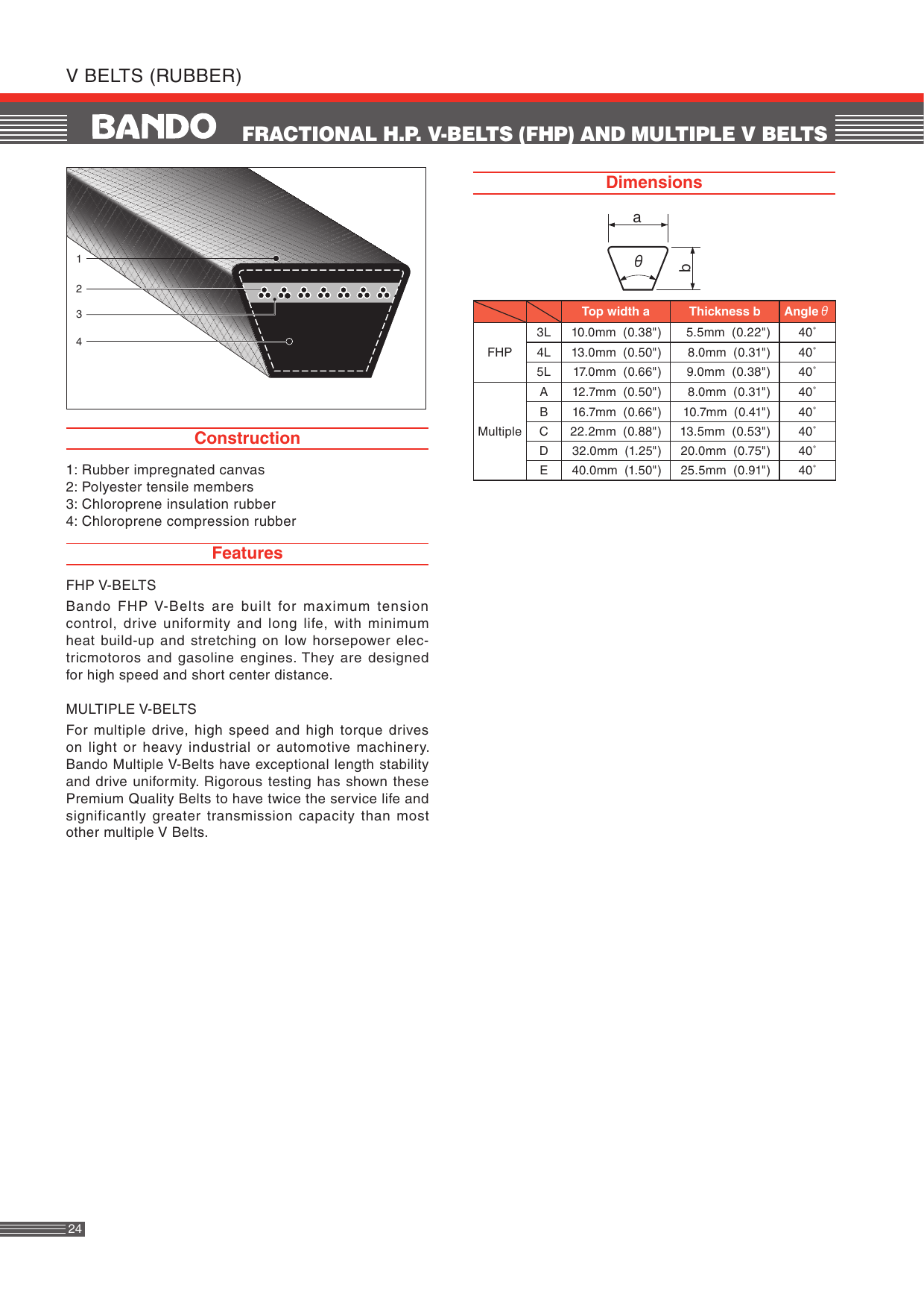 "Any Size You Need 3//8/"" Multiple Lengths 3L Power Transmission V-Belt"