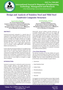 Design and Analysis of Stainless Steel and Mild Steel