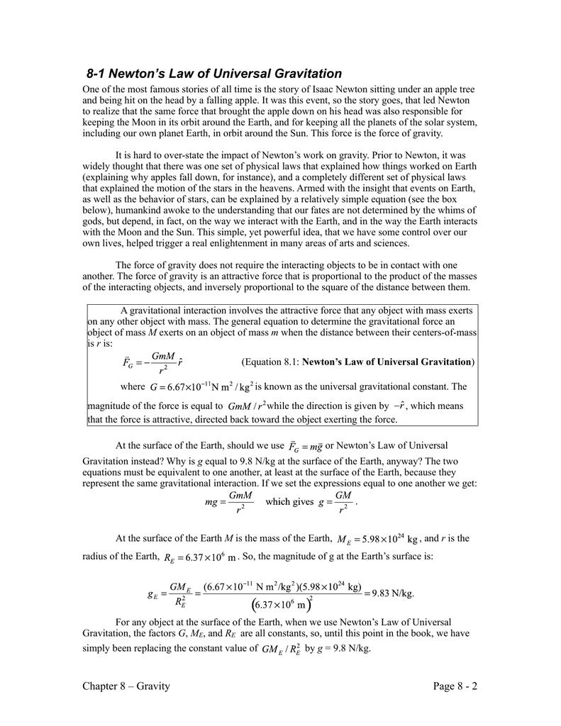 Universal Gravitation Equations Jennarocca – Universal Law of Gravitation Worksheet