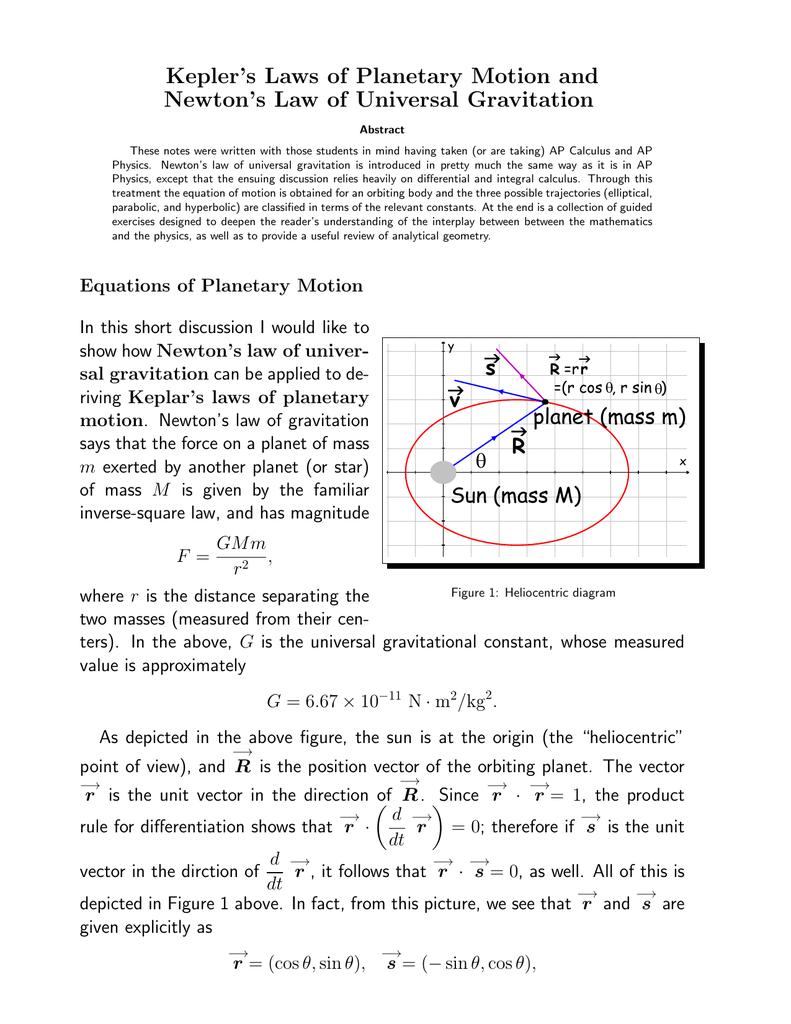 law of universal gravitation worksheet key images