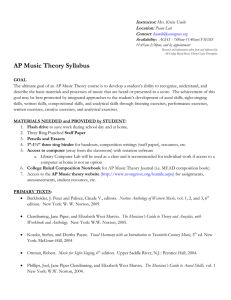 AP Music Theory Syllabus - Avon Grove School District