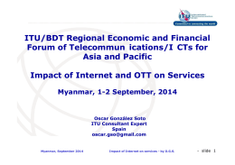 ITU/BDT Regional Economic and Financial Forum of Telecommun