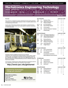 Mechatronics Engineering Technology