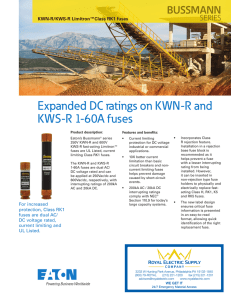 Bussmann series KWN-R and KWS-R DC rated RK1 fuses product