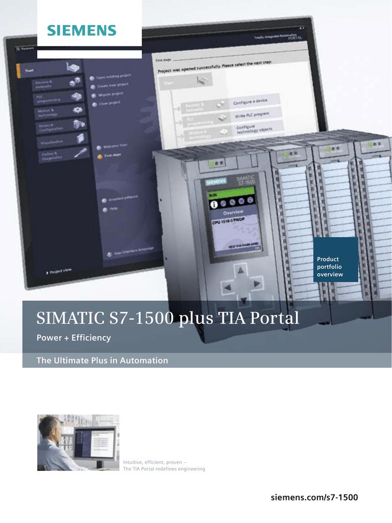 SIMATIC S7-1500 plus TIA Portal