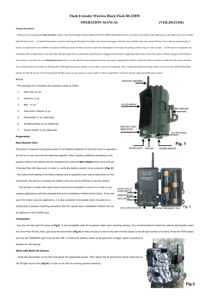 Flash Extender Wireless Black Flash Ir 22bw Jagt
