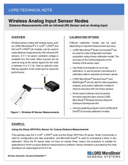 Wireless Analog Input Sensor Nodes