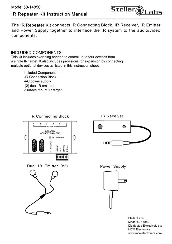 IR Repeater Kit Instruction Manual on