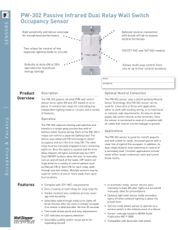 Pw 301 Passive Infrared Wall Switch Occupancy Sensor