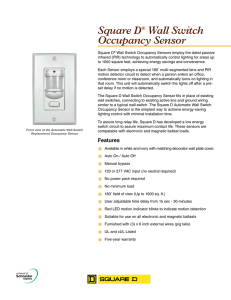 Square D® Wall Switch Occupancy Sensor