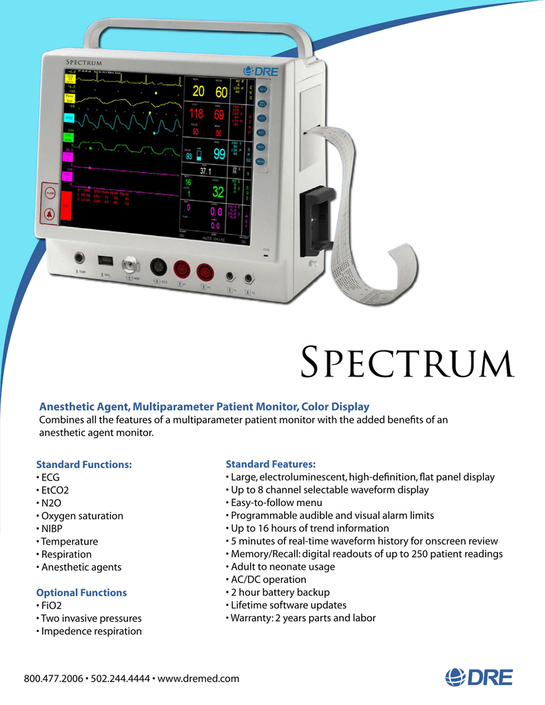 Anesthetic Agent, Multiparameter Patient Monitor
