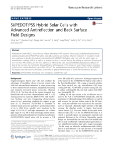 Si/PEDOT:PSS Hybrid Solar Cells with Advanced Antireflection and