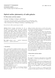 Optical surface photometry of radio galaxies