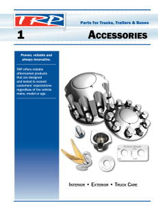 TRP PARTS CATALOG - ACCESSORIES CHAPTER