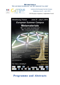 European Summer University in Physics