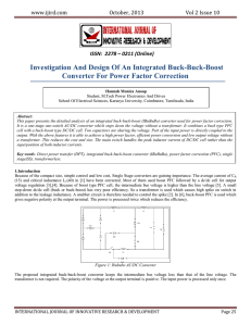 Investigation And Design Of An Integrated Buck-Buck