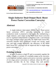 Single-Inductor Dual-Output Buck–Boost Power Factor Correction
