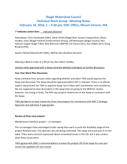 February 18, 2016 - Skagit Watershed Council