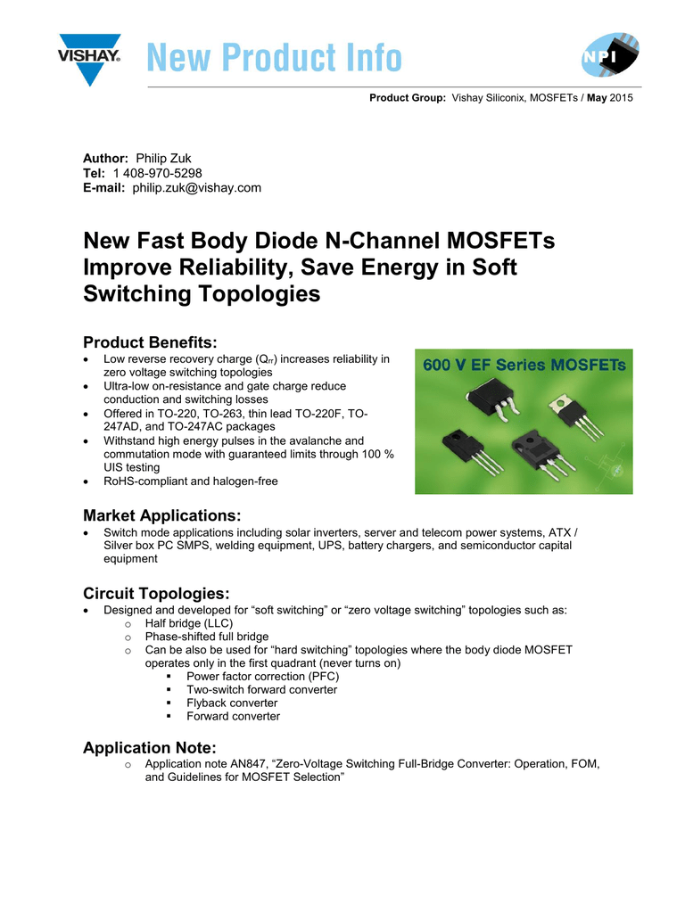 New Fast Body Diode N Channel Mosfets Improve How Can Protect Mosfet Switch In Flyback As